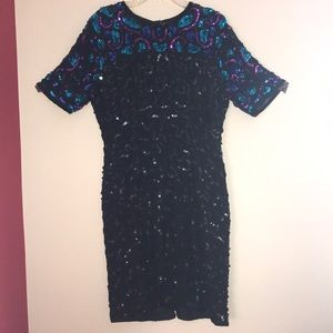 Vintage Stenay Sequined Party Dress